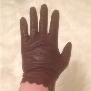 Belgian Brown Leather Gloves